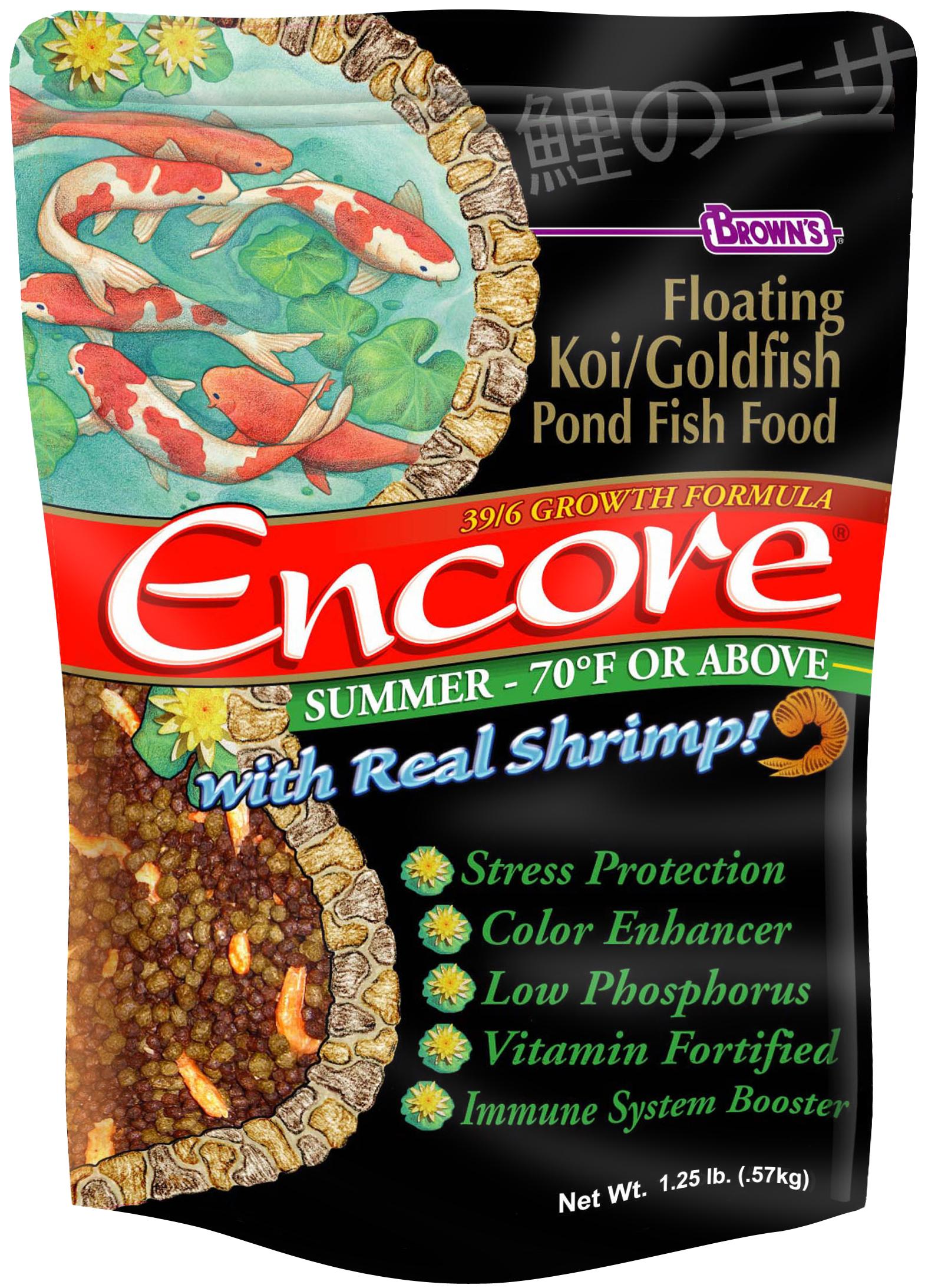 Encore® Floating Koi/Goldfish Pond Fish Food (Summer) | F.M. Brown\'s