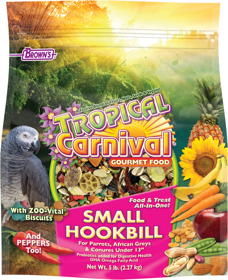 Brown S Tropical Carnival Gourmet Small Hookbill Food