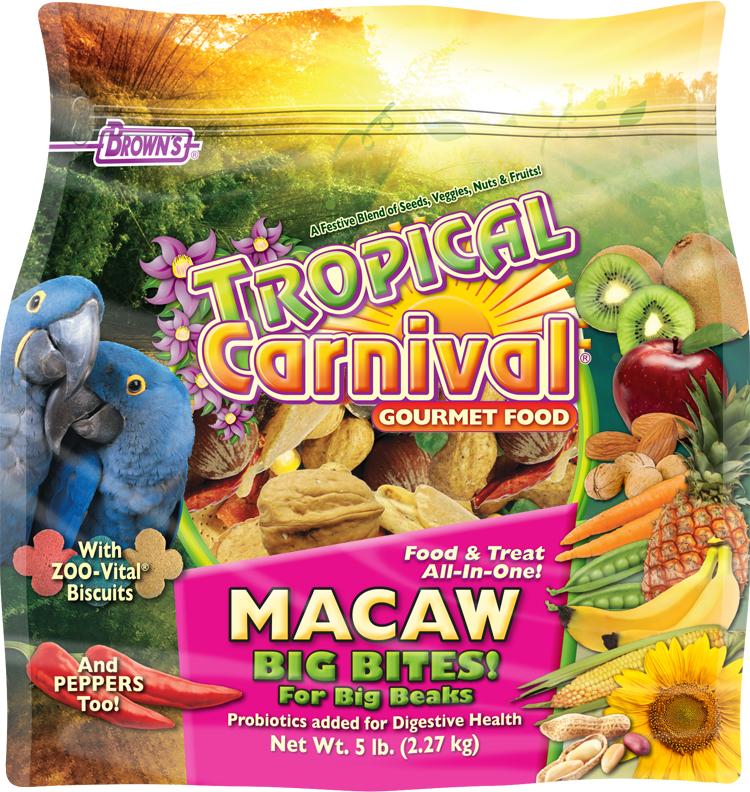 Brown S Tropical Carnival Gourmet Macaw Food