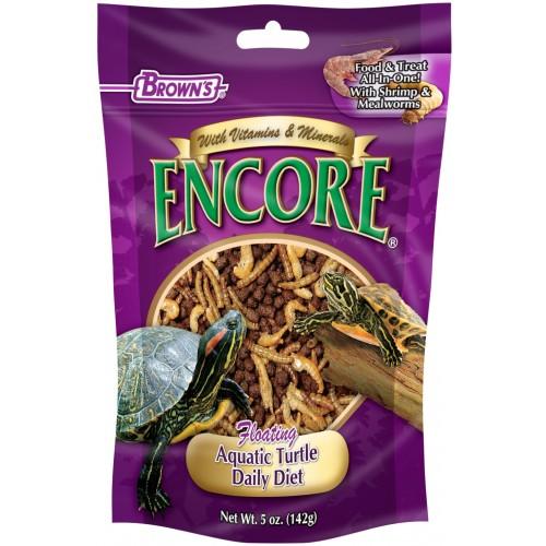 Encore? Floating Aquatic Turtle Diet F.M. Browns