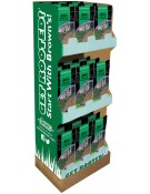 18 pc. - 3 lb. Green Turf Sun & Shade Grass Seed Display