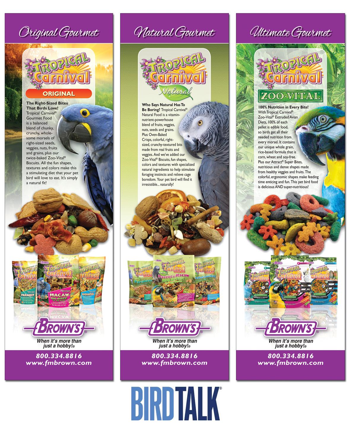 Bird Talk Pet Food Ads 2015