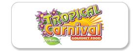 Tropical Carnival Natural Food Logo