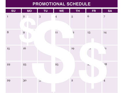 Promotional Schedule Pet Food