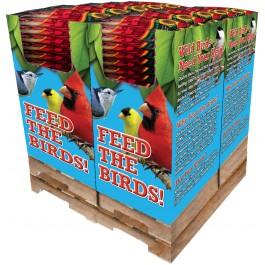 120 pc. - 8 lb. Song Blend® Dark Oil Sunflower Seeds Quad Bin
