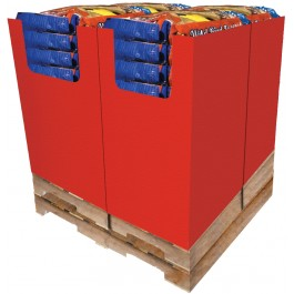 28 pc. - 20 lb. Unsalted-In-Shell Whole Peanuts Quad Bin