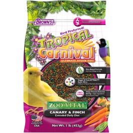 Tropical Carnival® ZOO•VITAL® Rice-Based Canary & Finch Pellets