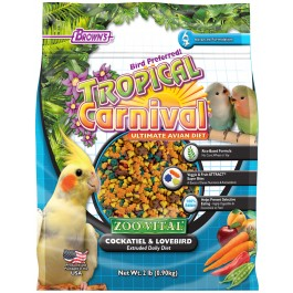 Tropical Carnival® ZOO•VITAL® Rice-Based Cockatiel & Lovebird Pellets