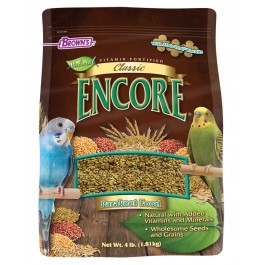 Encore® Classic Natural Parakeet Food