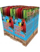 100 pc. - 10 lb. Song Blend® Dark Oil Sunflower Seeds Quad Bin