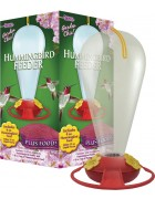 Garden Chic!® 32 oz. Capacity Hummingbird Feeder Plus Food