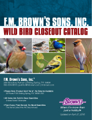 Wild Bird Product Closeout Catalog