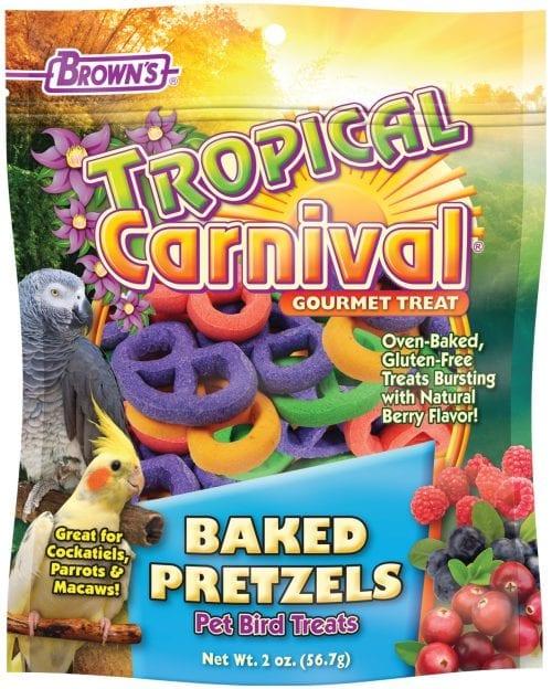 Tropical Carnival® Baked Pretzels Pet Bird Treats-0