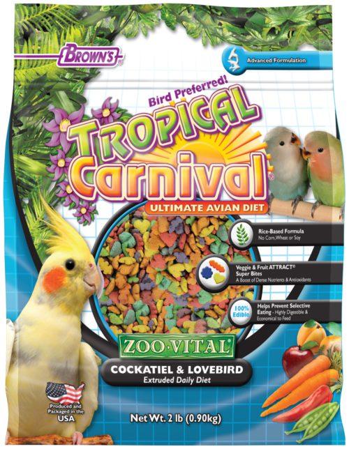 Tropical Carnival® ZOO•VITAL® Rice-Based Cockatiel & Lovebird Pellets-0