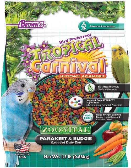 Tropical Carnival® ZOO•VITAL® Rice-Based Parakeet/Budgie Pellets-0