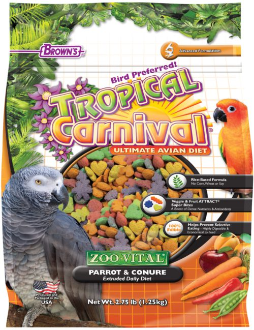 Tropical Carnival® ZOO•VITAL® Rice-Based Parrot & Conure Pellets-0