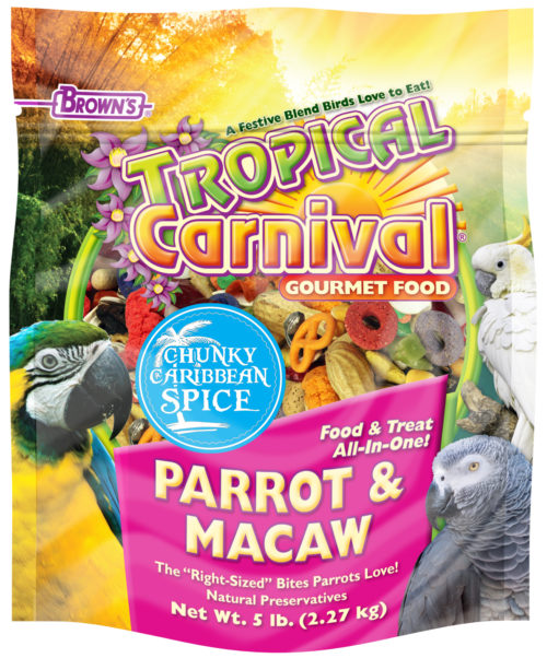 5 lb. Tropical Carnival® Chunky Caribbean Spice Parrot & Macaw Food-0