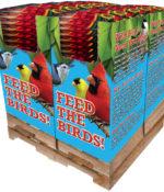120 pc. - 8 lb. Song Blend® Dark Oil Sunflower Seeds Quad Bin-0