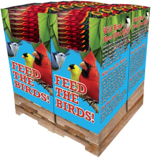 100 pc. - 10 lb. Song Blend® Dark Oil Sunflower Seeds Quad Bin-0