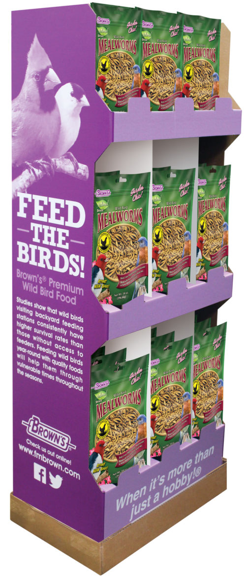 30 pc. - Garden Chic!® 14 oz. Mealworms Display-0