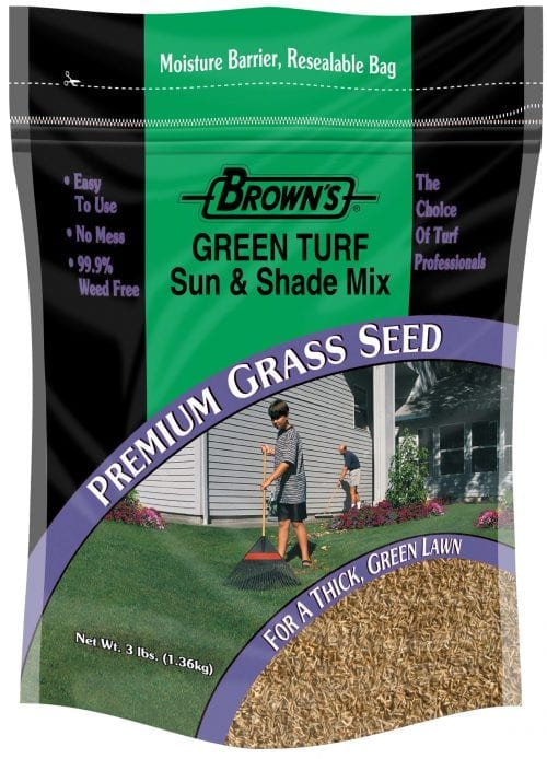 18 pc. - 3 lb. Green Turf Sun & Shade Grass Seed Display-2201