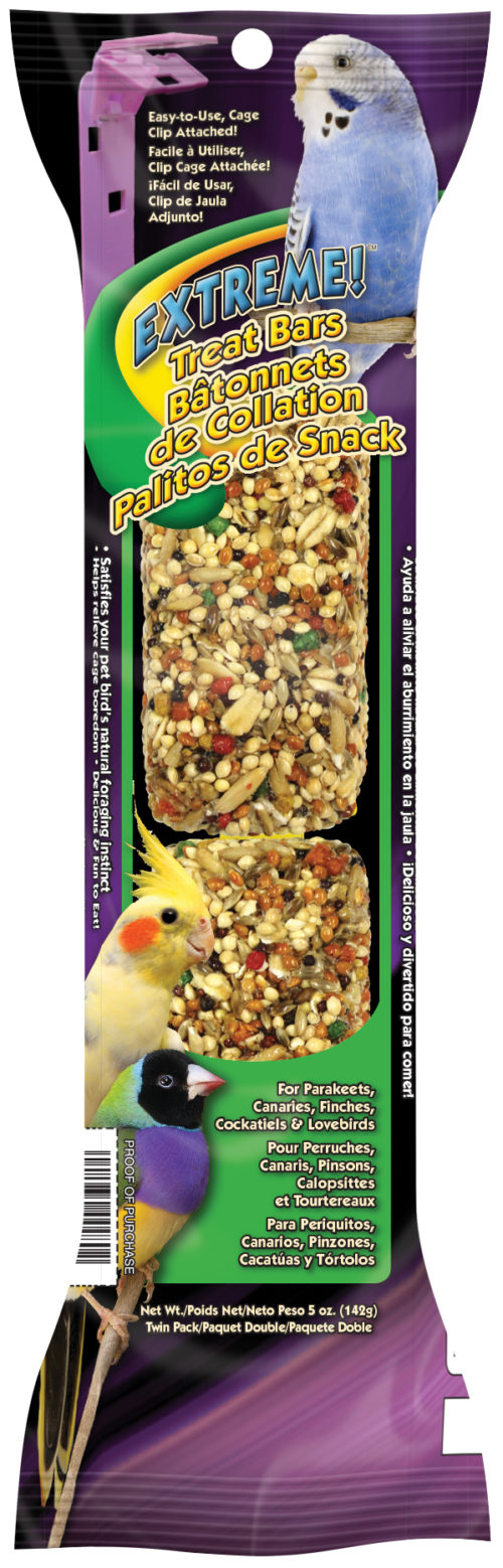 Extreme!™ Treat Bars Twin Pack for Parakeets, Canaries, Finches, Cockatiels & Lovebirds-0